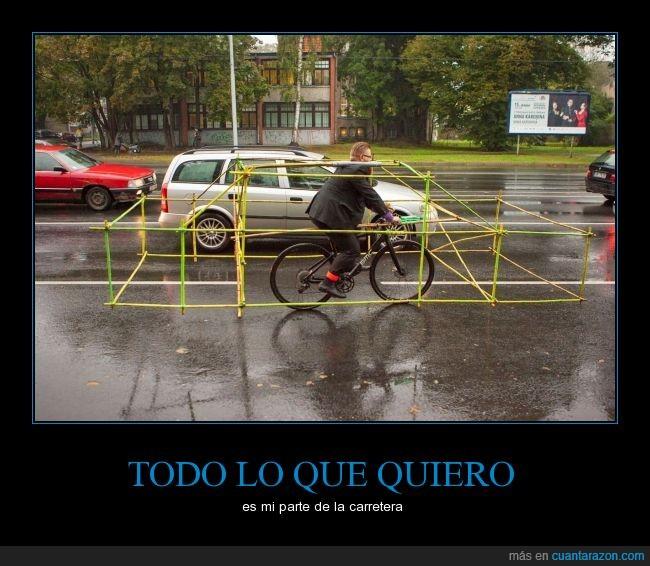 bicicleta,calle,ciclista,espacio,respeto