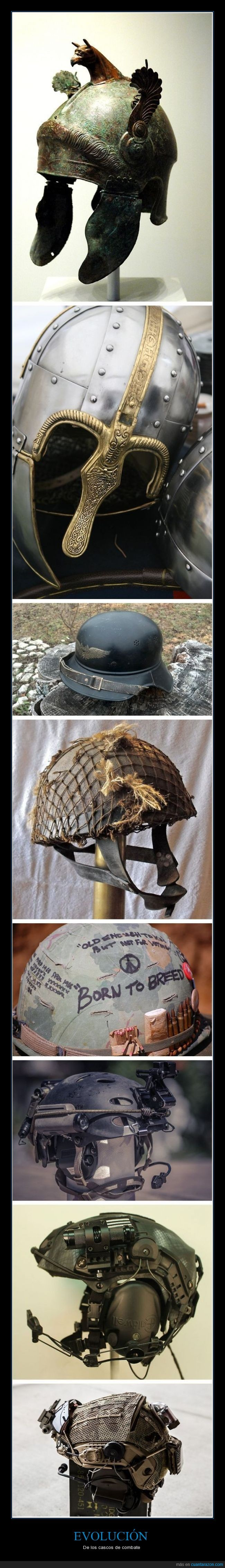 cabeza,cascos,combate,evolucion