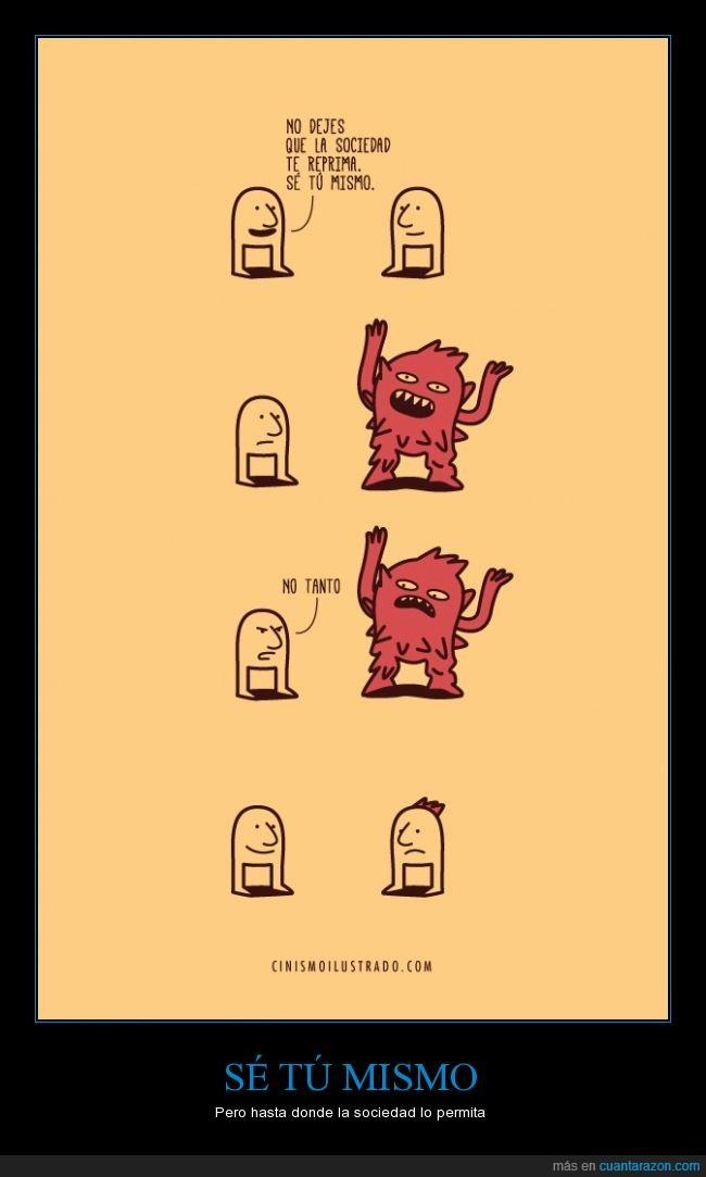 diferente,igual,mismo,moderación,moderado,monstruo,ser,sociedad