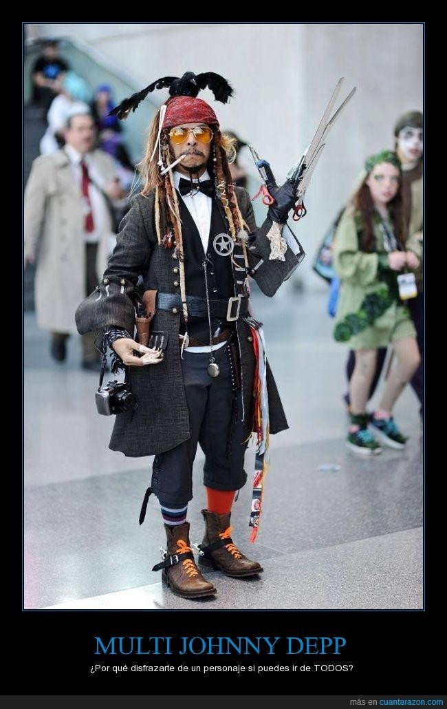 cosplay,eduardo manostijeras,johnny deep,johnny depp,personaje,se escribe depp pero la gente no se entera,sombrerero,tonto,vegas