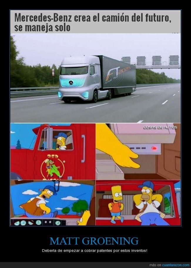 a la grande aca no le puso cuca,camion,esto ya deja de ser coincidencia,maneja solo,simpsons