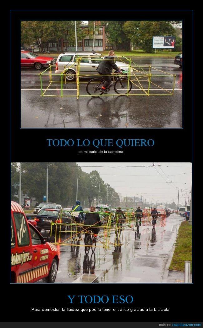 bambú,bicicleta,fluidez,importancia del uso de la bicicleta en ciudades,semana de la movilidad europea,tráfico