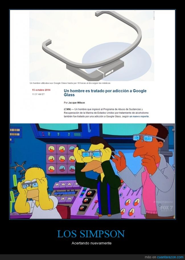 Acertando,Google Glass,obsesion,prediccion,Simpson