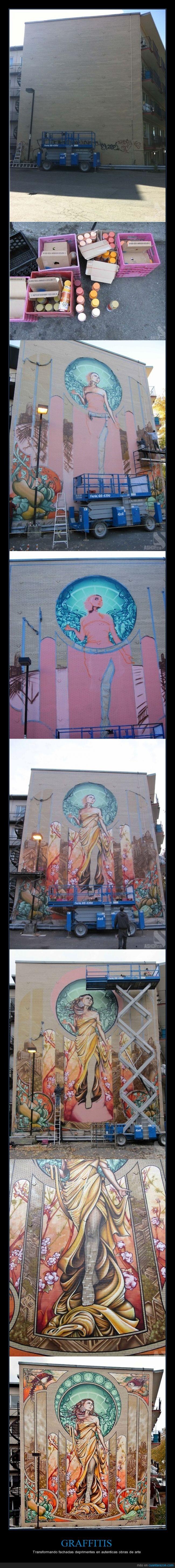 arte,fachada,grafitti,mujer,pared,pintura