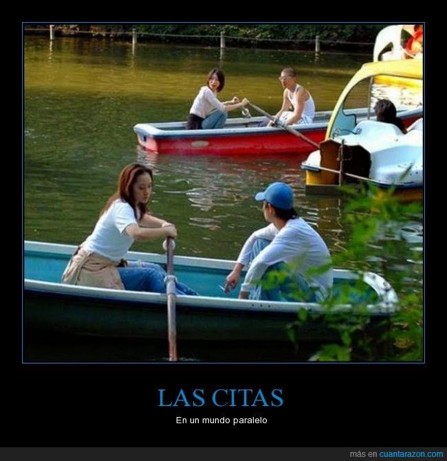 amor,citas,hombres,lago,mujer,parejas,remar,remo