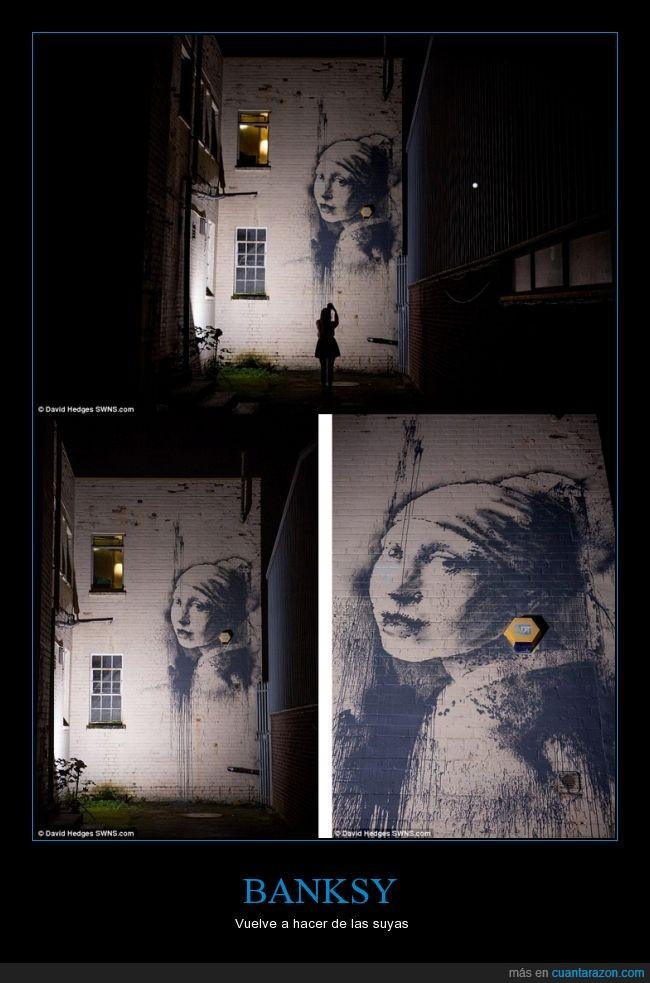 alarma,banksy,critica,graffiti,joven de la perla,pendiente,social