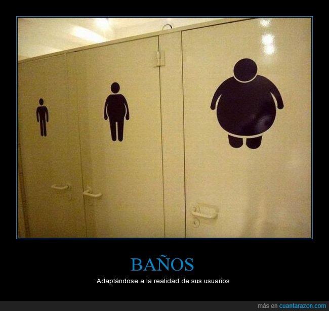 ajustados,baños,delgado,espacio,estrecho,gordo,grande,hombre,indica,normal,pegatina,personas,peso,públicos,puerta,realidad