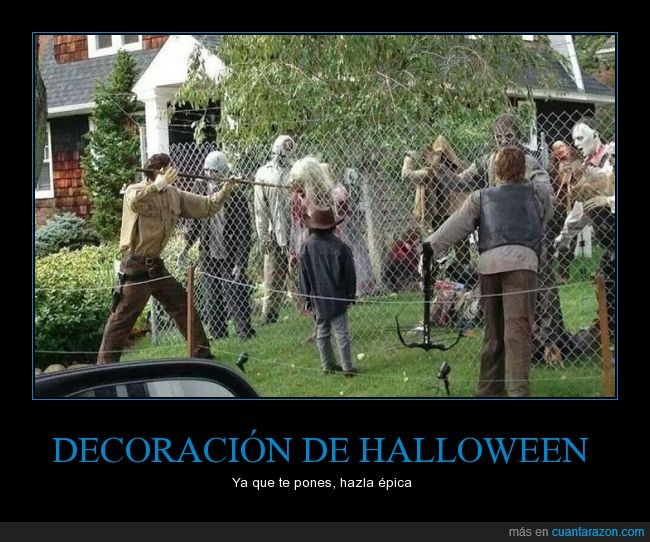 decoracion,halloween,the walking dead