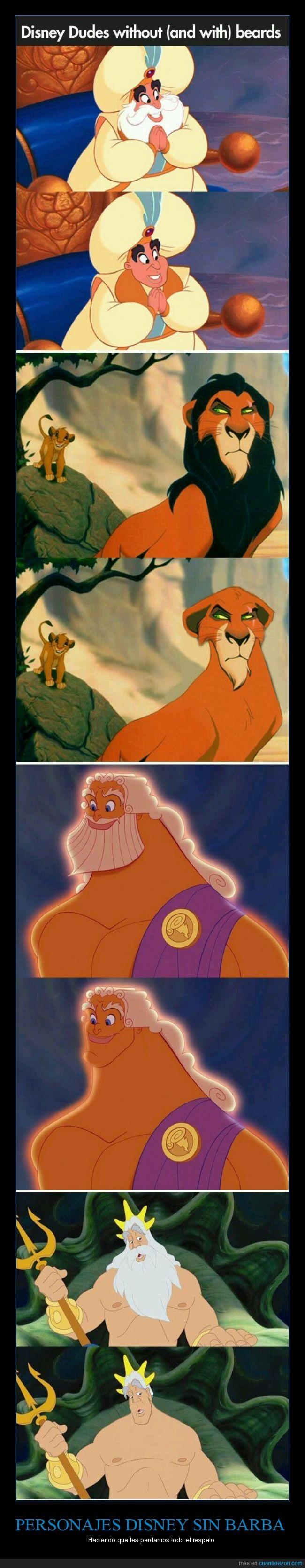 barba,Disney,humor,pelo,scar,triton