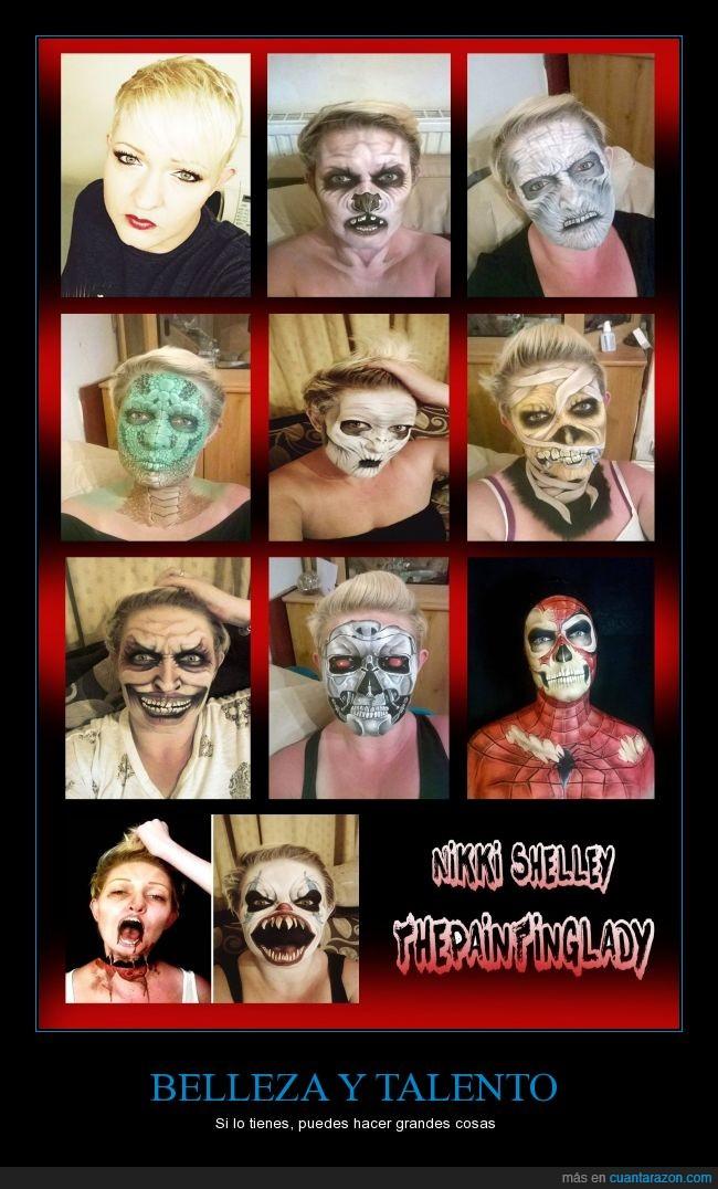 halloween,linda,maquillaje,talento