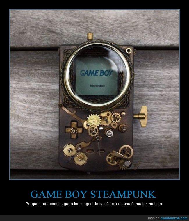 estilo,game boy,gameboy,retro,steampunk