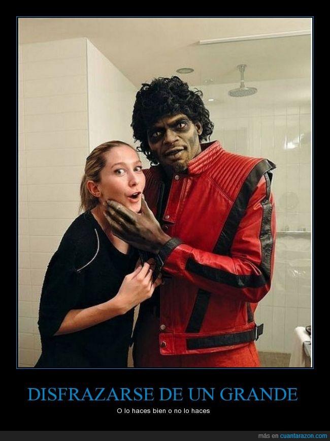 clavado,igual,lentillas,maquillaje,michael jackson,pelo,thriller,traje,zombie