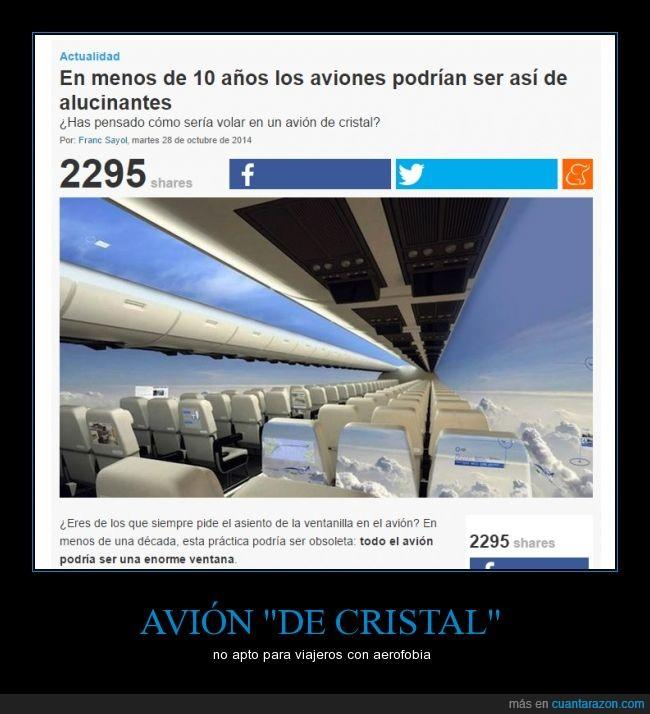 aluflipante,avión,cristal,fobia,invisible,transparente,traves,ver,volar