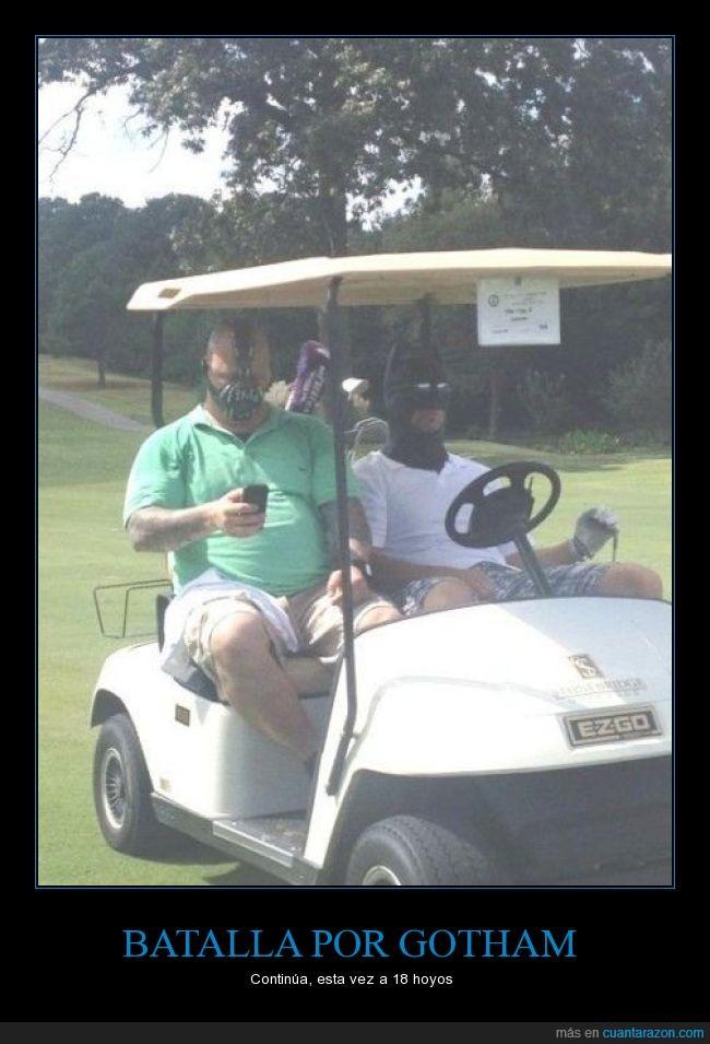 bane,batman,golf,gotham,que loco