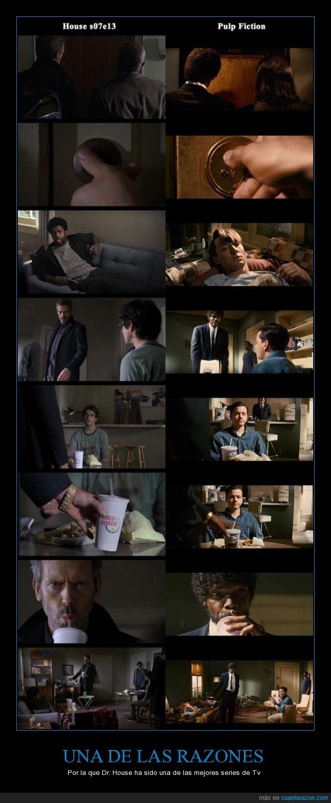 Dr. House,homenaje,la mejor,pulp fiction,razones,series