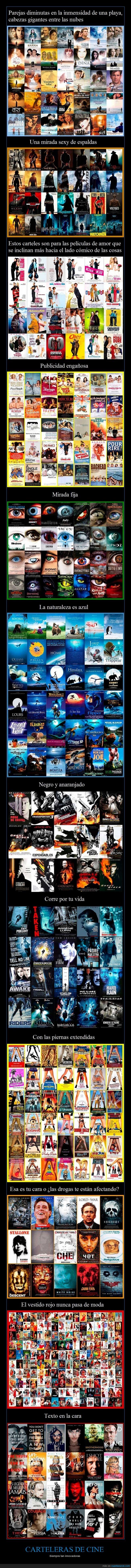 caras,carteleras,cine,cuerpos,no se pueden inventar algo original?,posters,teatros