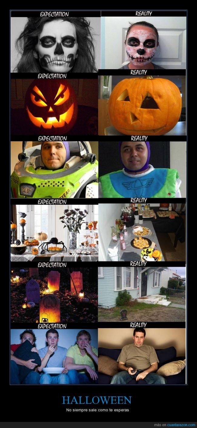 expectativas,fiesta,halloween,realidades