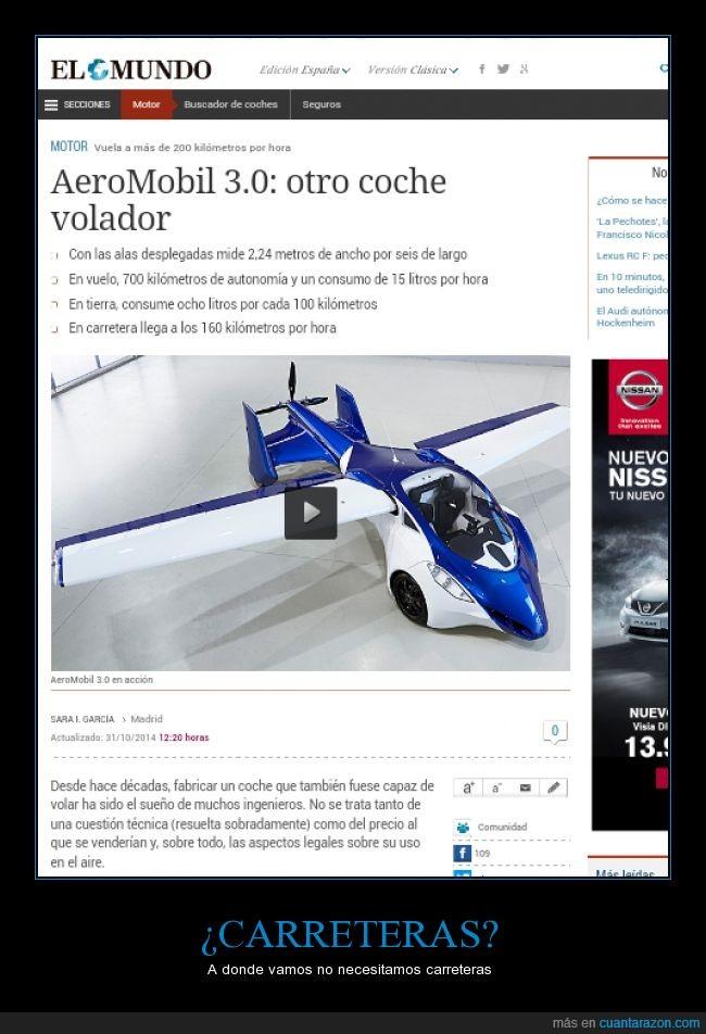aeromobil,aeromobil 3.0,coche,volador,volar
