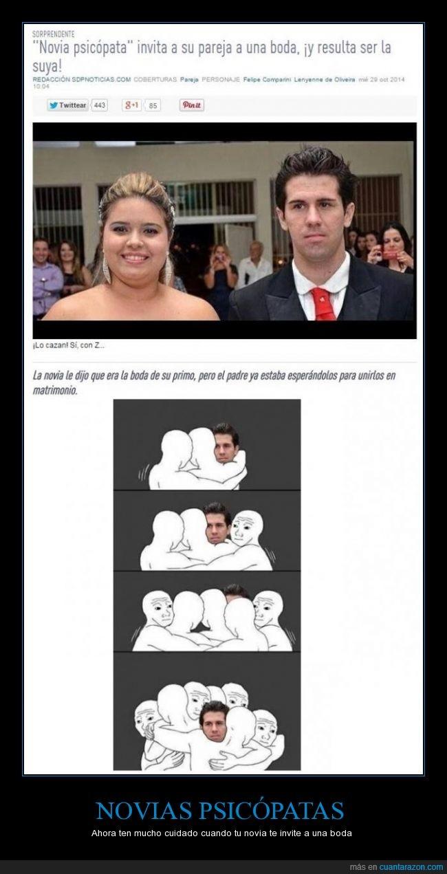 amiga,boda,marido,mentir,mujer,novia,novio,primo,psicopata