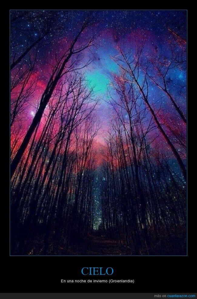 aurora boreal,cielo,colores,contaminacion luminica,noche