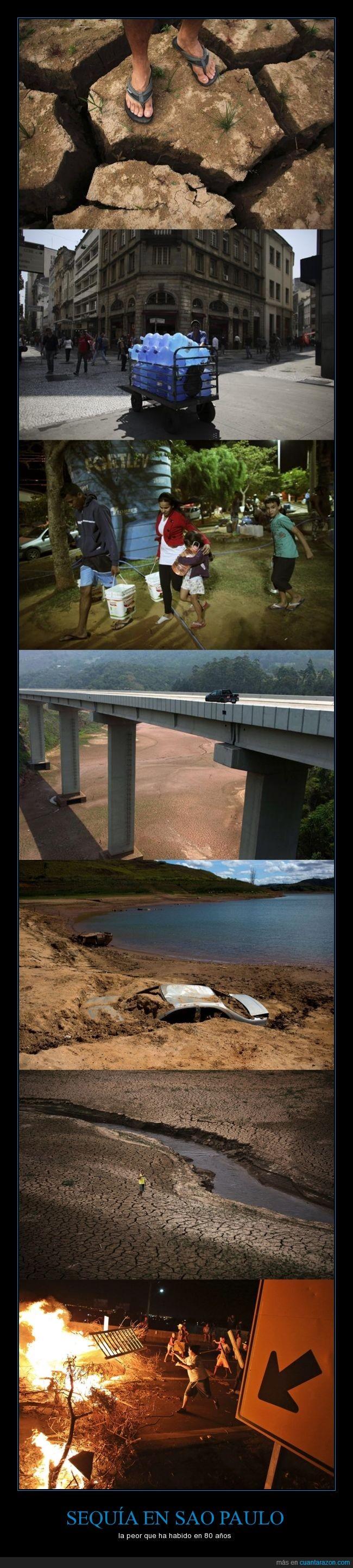 agua,Brasil,cambio climático,clima,embalse,escasez,lluvia,protesta,sao paulo,sequía