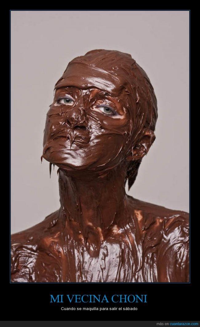 chocolate,choni,color,maquillaje,marron,morena,nocilla,nutella,sábado,vecina