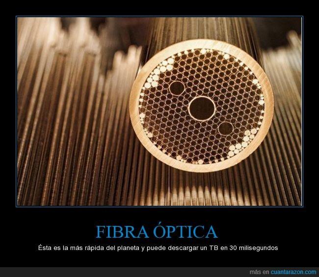 Actualidad,brutal,en España llegara para el año 3000,Fibra óptica,Va a 255 Tbits por segundo