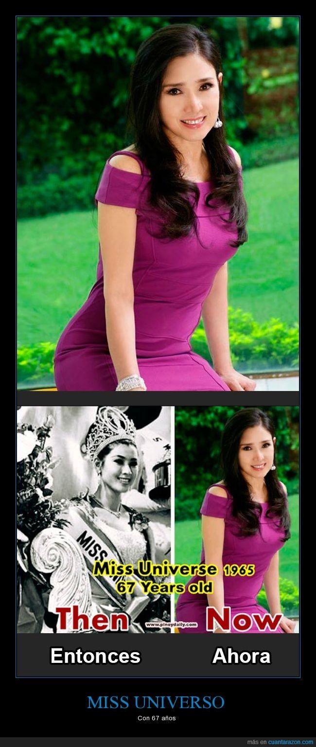 67 años,Apasra Hongsakula,envejecer,miss,miss universo,no envejece,tailandesa