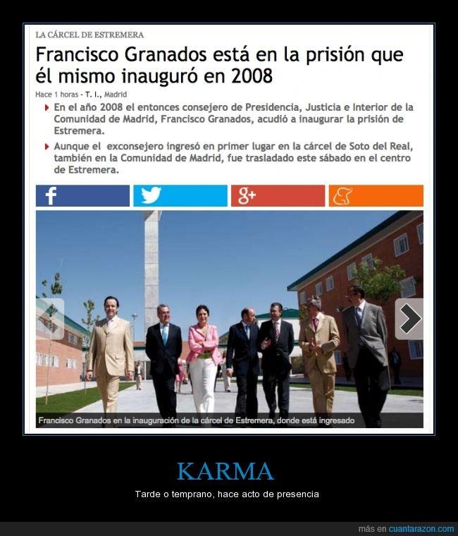 carcel,entrar,francisco granados,inauguracion,inaugurar,inauguro,justicia,prision