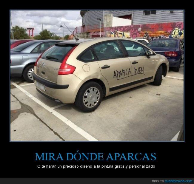 aparca,aparcamiento,aparcao,bien,escribir,graffiti,parking