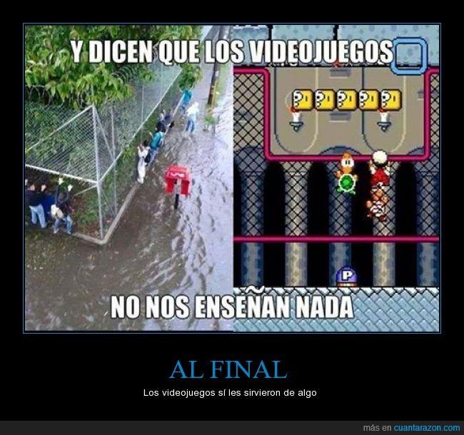 agua,cruzar,Inundación,La vida es un reto,Mario Bros,pantalla,pasar,plataforma,Reja,Tortuga