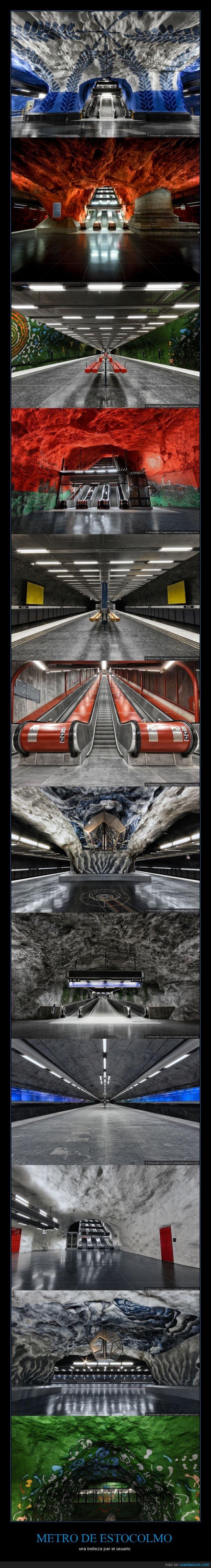 arte,Estocolmo,Metro,país,subterraneo