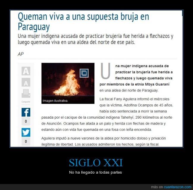 Bruja,inquisición,Medioevo,Paraguay,Que no soy una bruja,queman,quemar,Siglo XXI