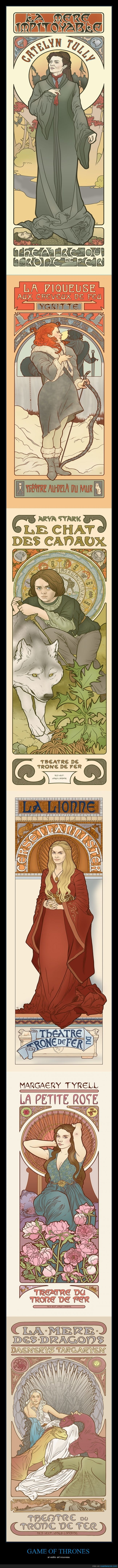 art nouveau,floreale,francés,game of thrones,juego de tronos,modernismo,vanguardia