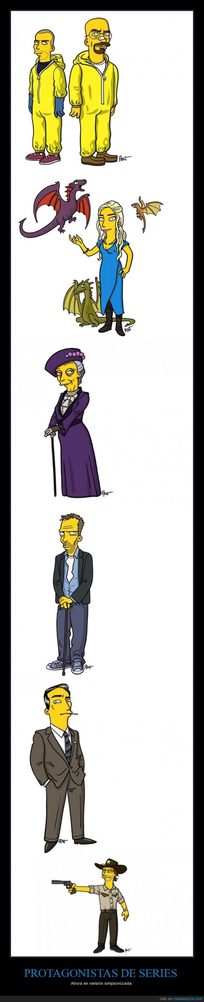 abbey,breaking bad,downtown,juego de tronos,mad men,protagonistas,series,simpson,the walking dead