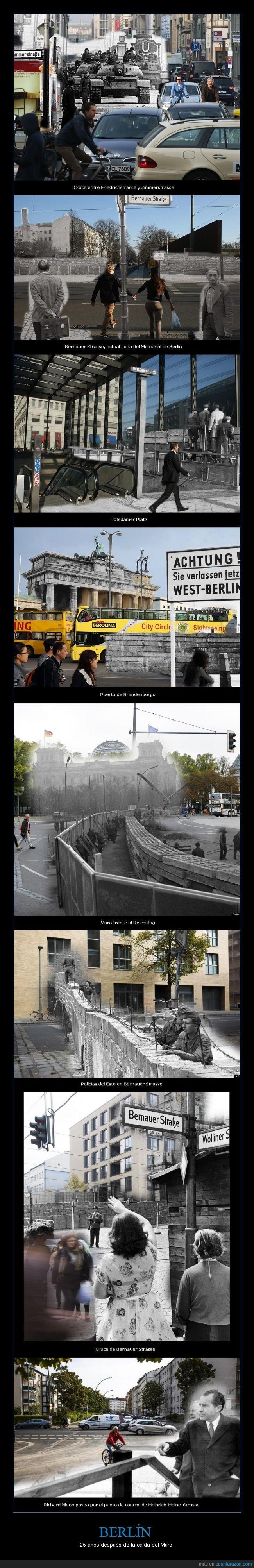 Actualidad,Berlín,Muro,Potsdamer Platz,Puerta de Brandenburgo,Richard Nixon