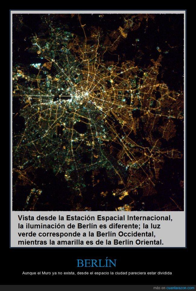 Berlín,división,estación espacial internacional,muro de Berlín