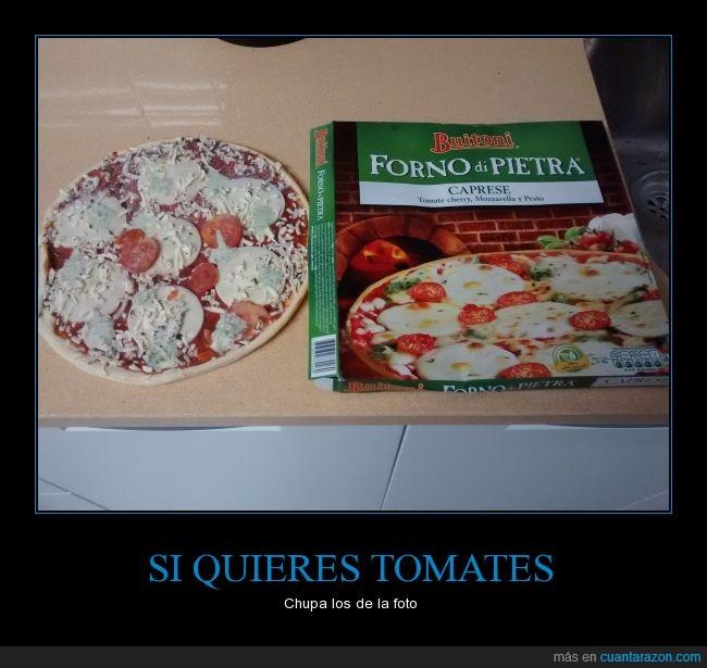 aun asi estan mejor que las de telepizza,buitoni,cherry,comer,comida,pizza,timo,tomate