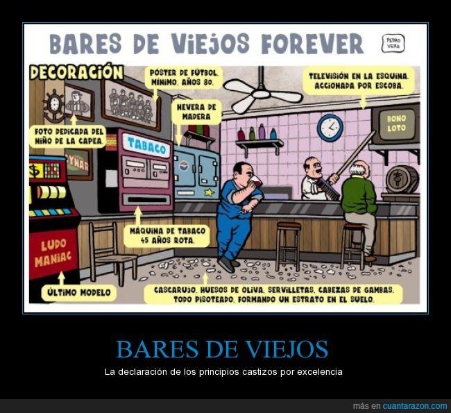 bar,foto,maquina,mayor,señor,servilleta,sucio,suelo,televisión,tragaperras,viejo