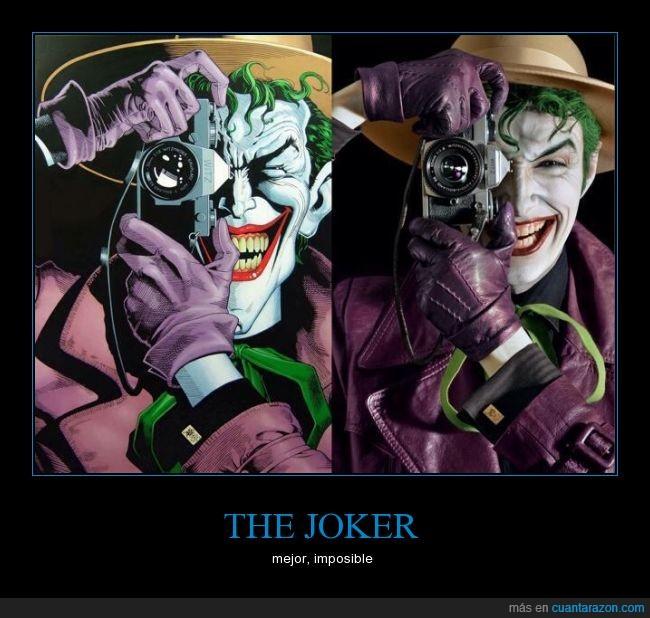 Batman,clavado,cosplay,enemigo,foto,Guasón,igual,ilustracion,joker,parecidos