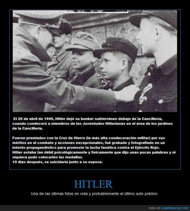 Adolf Hitler,Alemania,Bunker,Condecoración,Historia,Imagen,Niños,Rusia,Suicidio