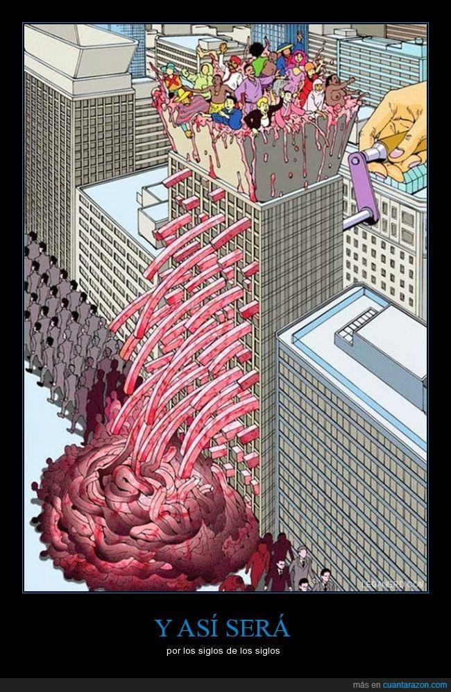 cambiar,carne,cosmopolita,edificio,igual,muertos,Mundo,picador,rutina,salir,vacíos,vida