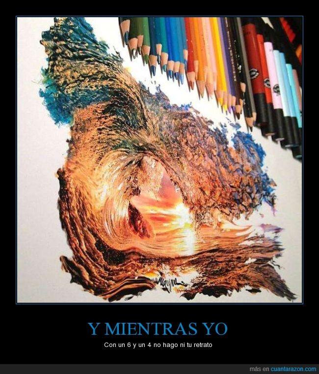 arte,color,colores,cuatro,dibujo,fotorrealista,hiperrealismo,madera,ola,realista,seis,surf,talento