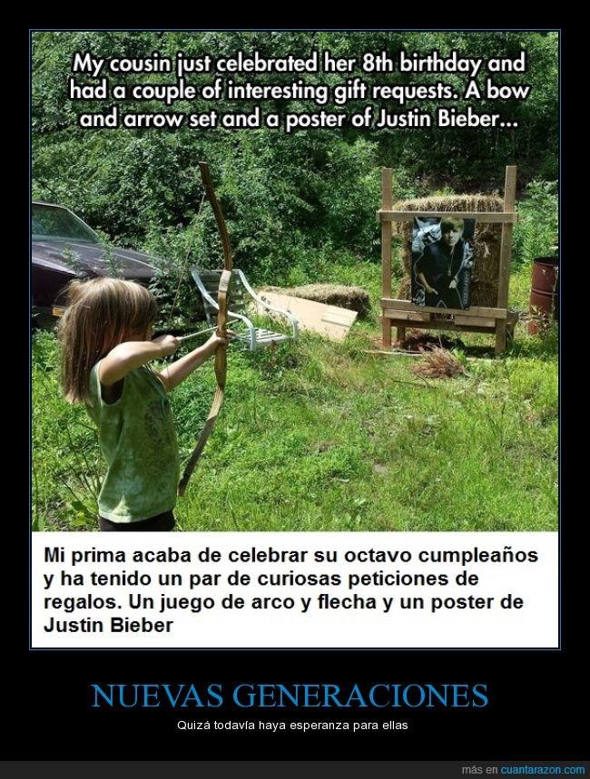arco,blanco,cumpleaños,diana,esperanza,flecha,Justin Bieber,poster