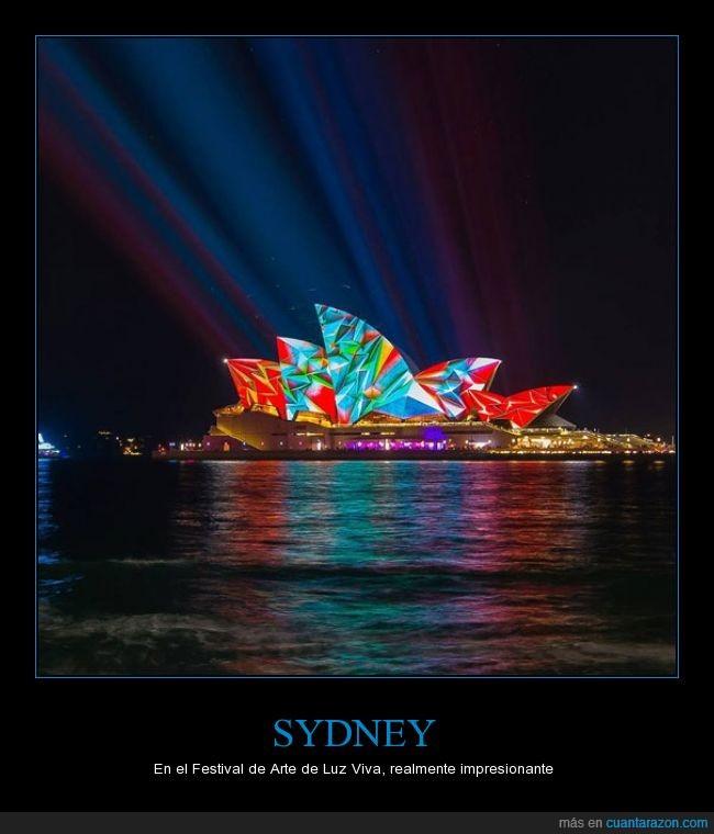 arte,brillante,color,festival,iluminacion,luz,Sydney,viva