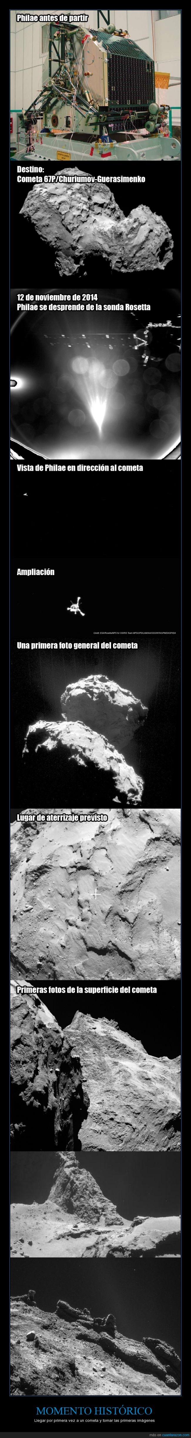 67P,Cometa,Espacio,Fotos,histórico,Philae,Proceso,Rosetta,Universo