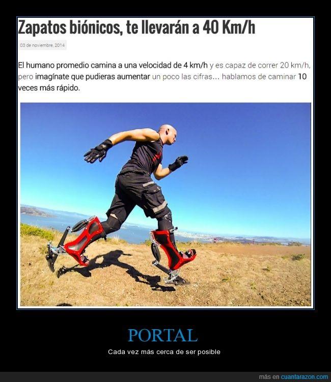 correr,hombre bionico,Portal 1,Portal 2,velocidad,zancada,zapados,zapatos