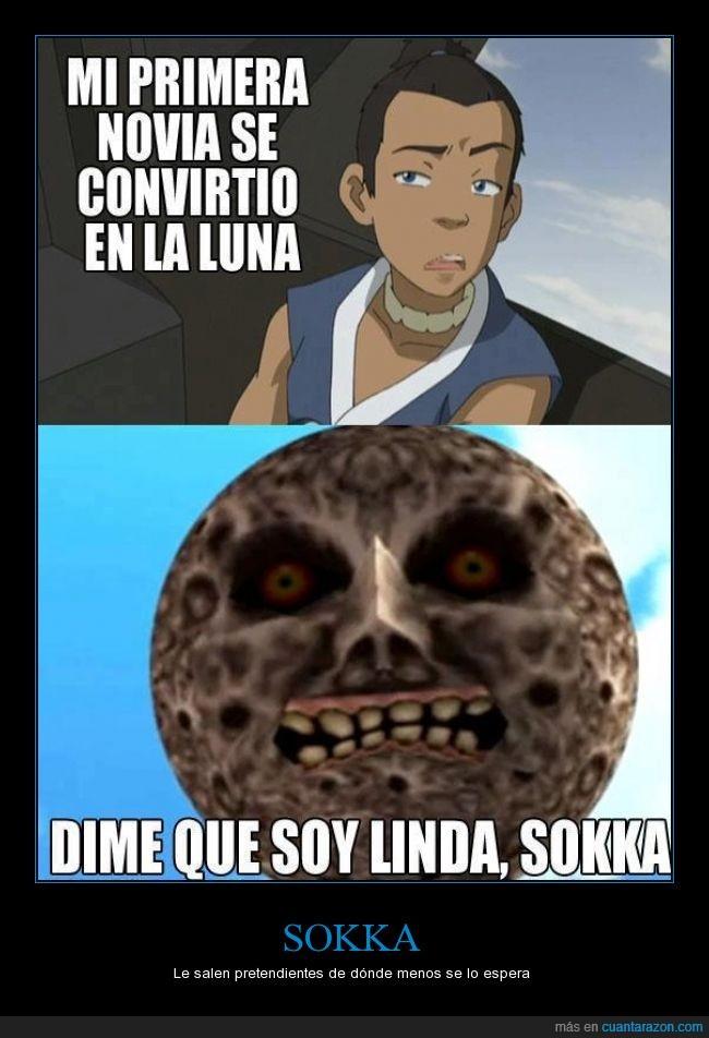 amor,avatar,convertir,convirtió,la leyenda de zelda,luna,mojoras mask,sokka,suki,the legend of zelda,yue,zelda