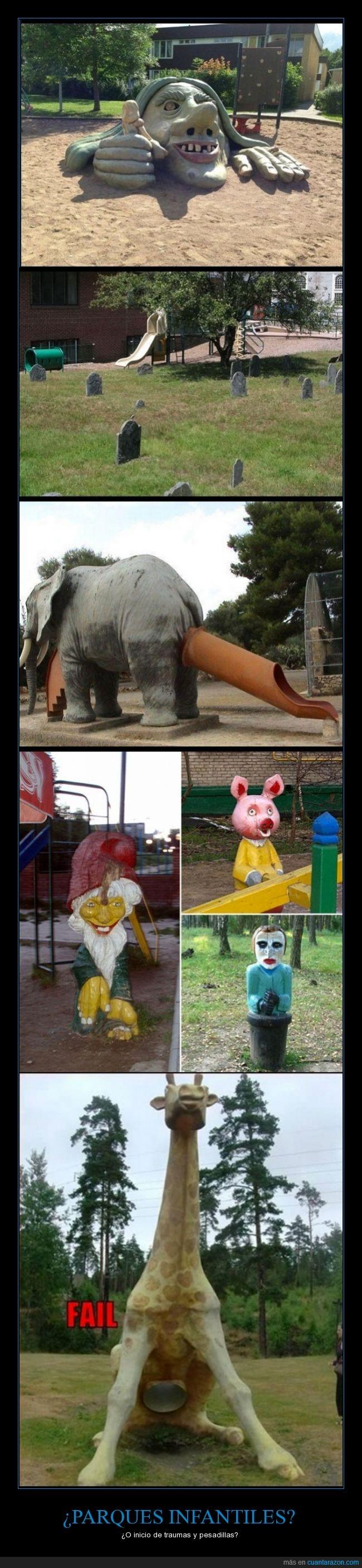 bruja,cementerio,elefante,gorma,infantiles,jirafa,miedo,parques,¿Qué estaban pensando?