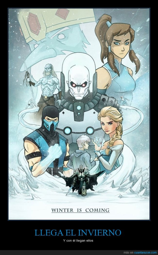 Elsa,Frozen,Ice Man,Jack Frost,Korra,Lich King,Mr. Freeze,Rey Helado,sub Zero,White Walker